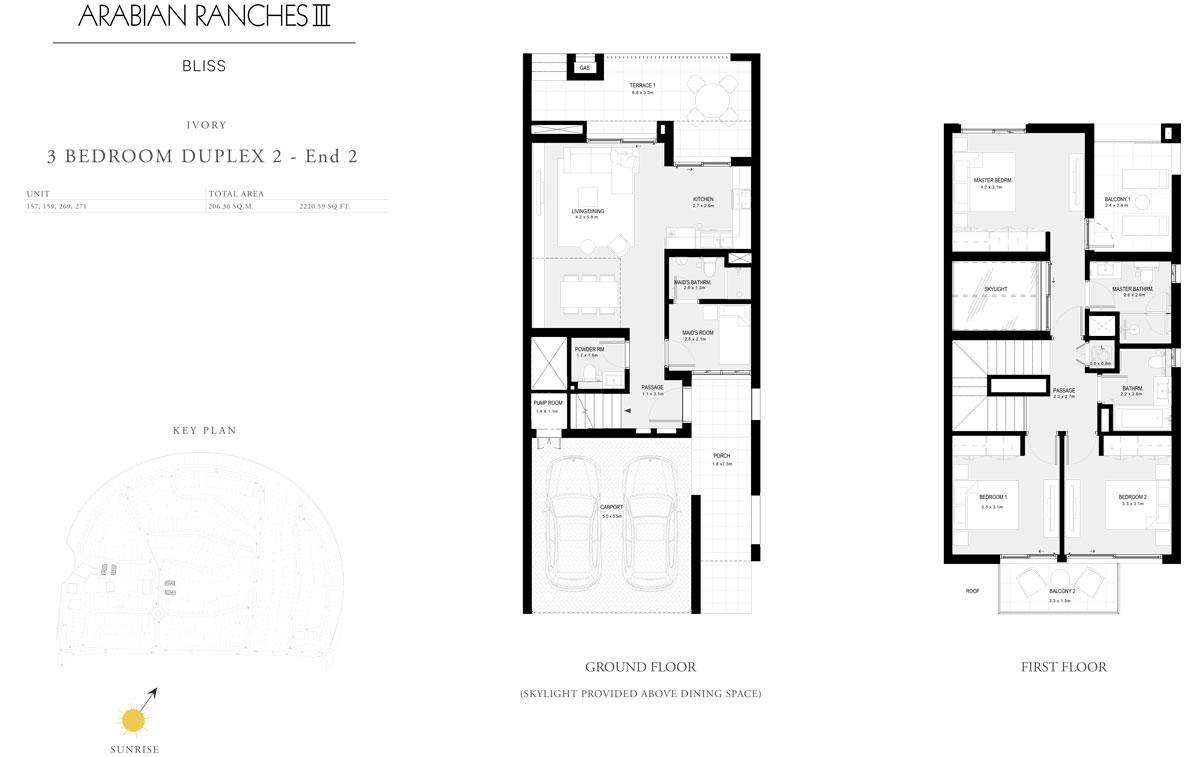 3 Bedroom Duplex 2 - End 2