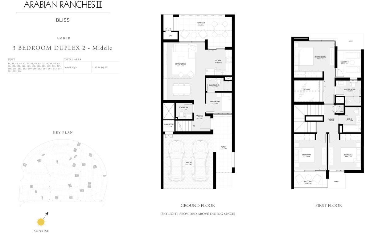 3 Bedroom Duplex 2 - Middle