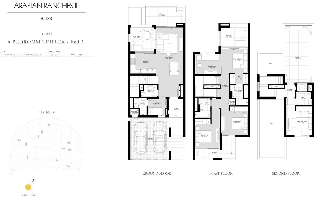 4 Bedroom Triplex - End 1