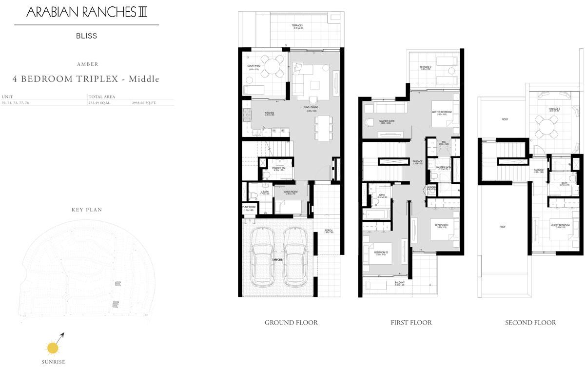 4 Bedroom Triplex - Middle