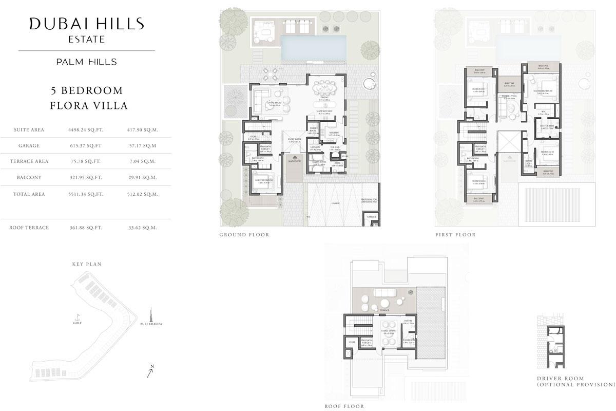 5 Bedroom, Flora Villa