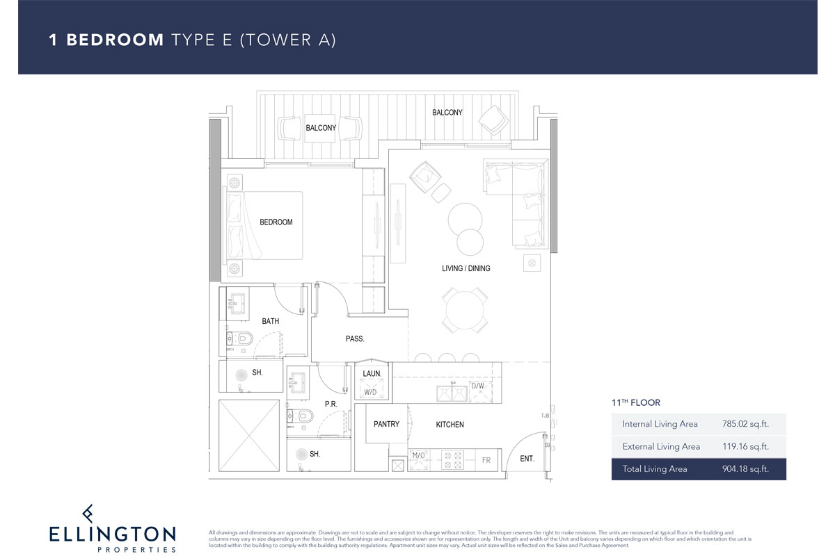 Type E, 11th Floor