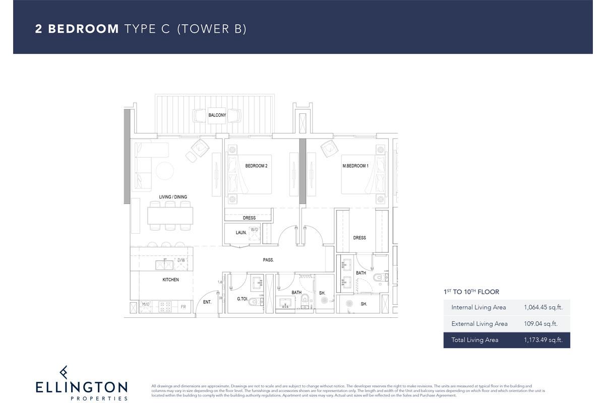 Type C, 1st To 10th Floor