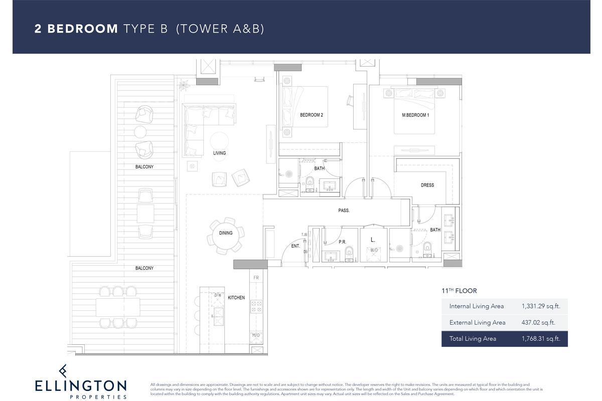 Type B, 11th Floor