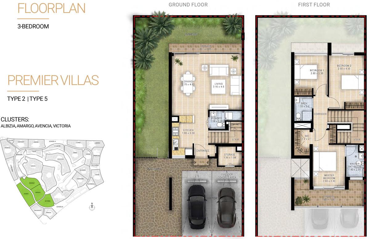 Premier Villas, Type 2 -Type 5