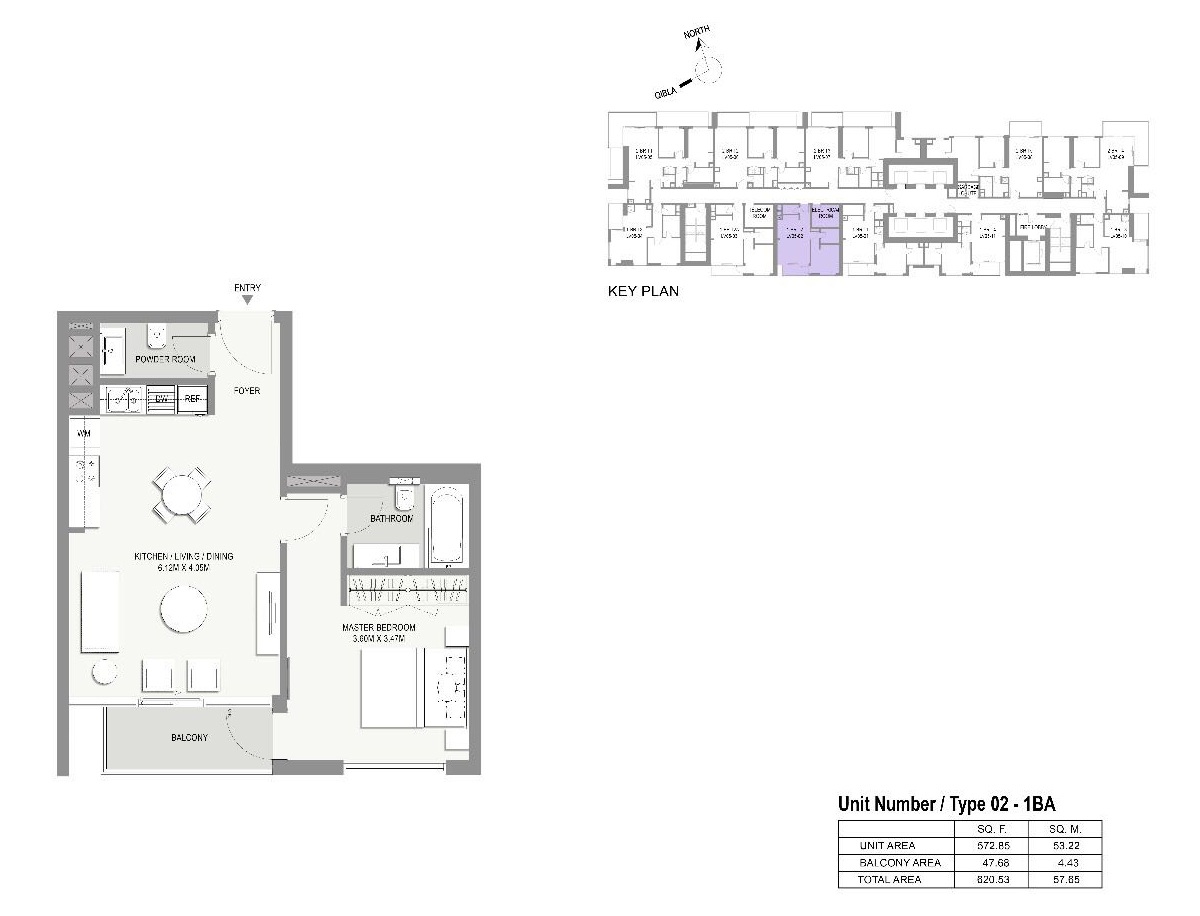 Type-02-1 Bed Apartments
