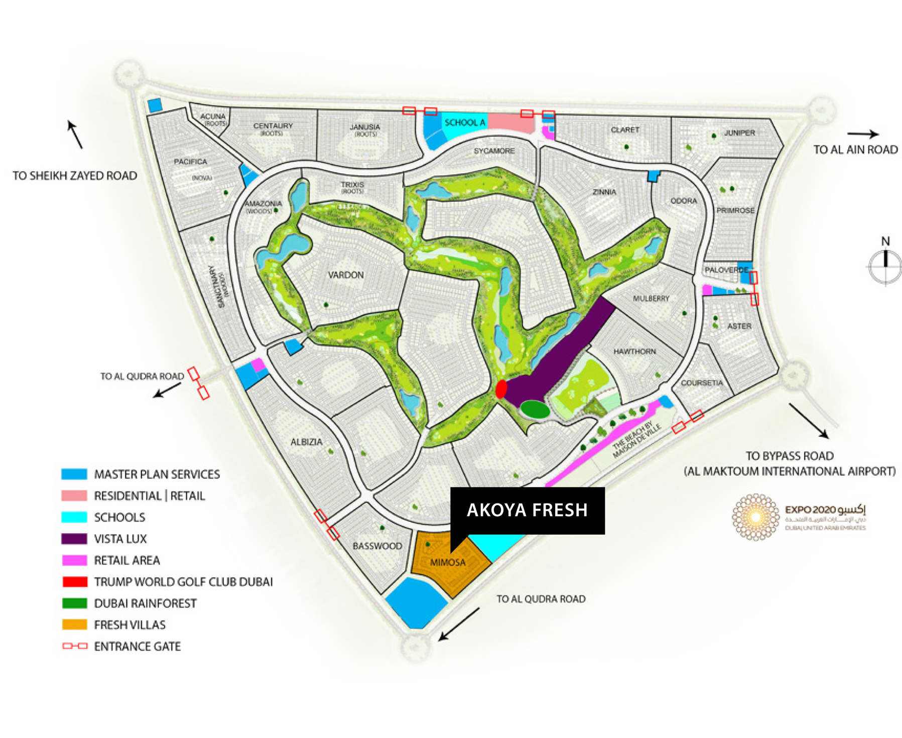 Akoya-Fresh-Villas Master Plan