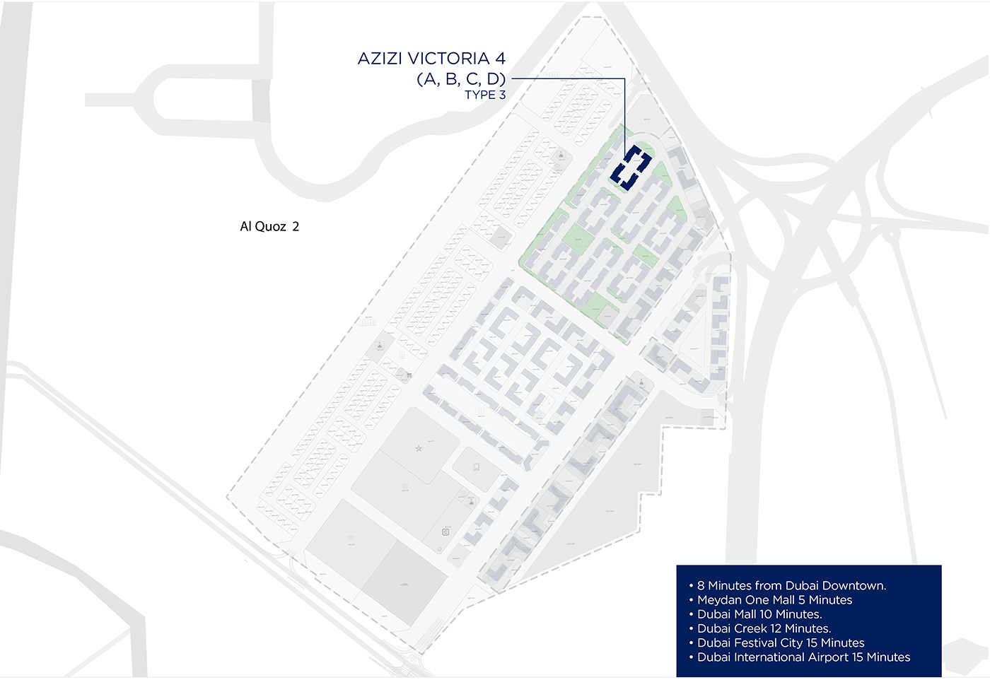 Azizi-Victoria-Apartments Master Plan