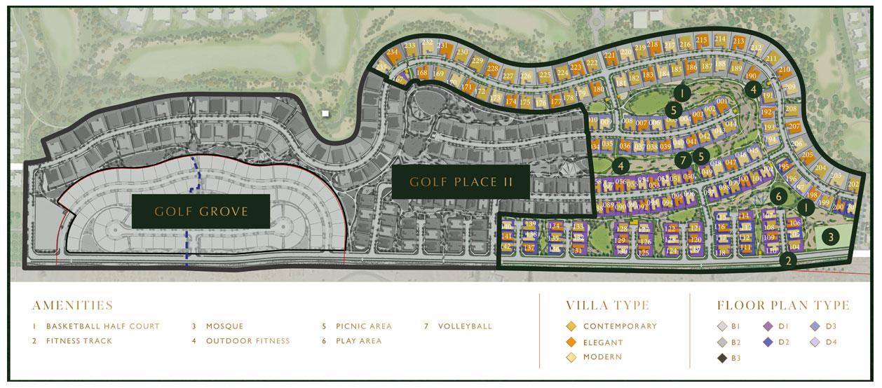 Golf Place Villas -  Master Plan