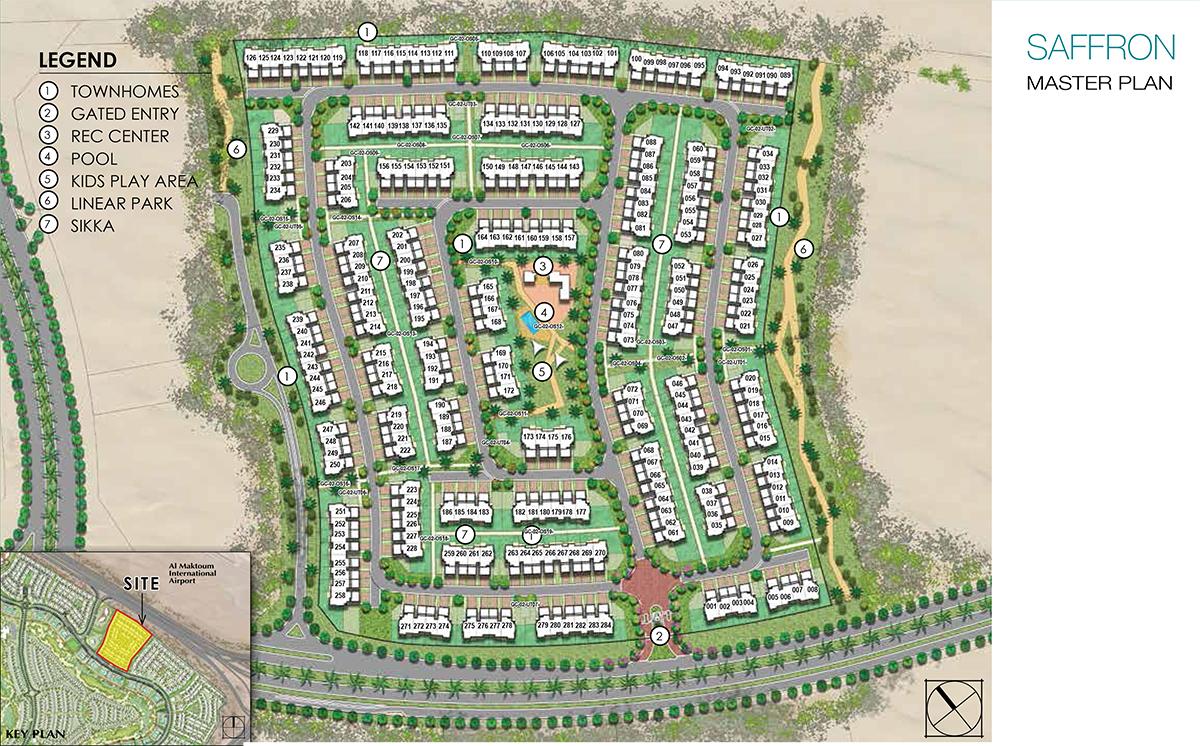 Saffron-Townhouses Master Plan