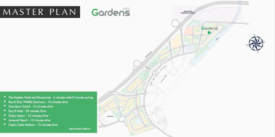 Azizi-Gardens-Apartments Master Plan