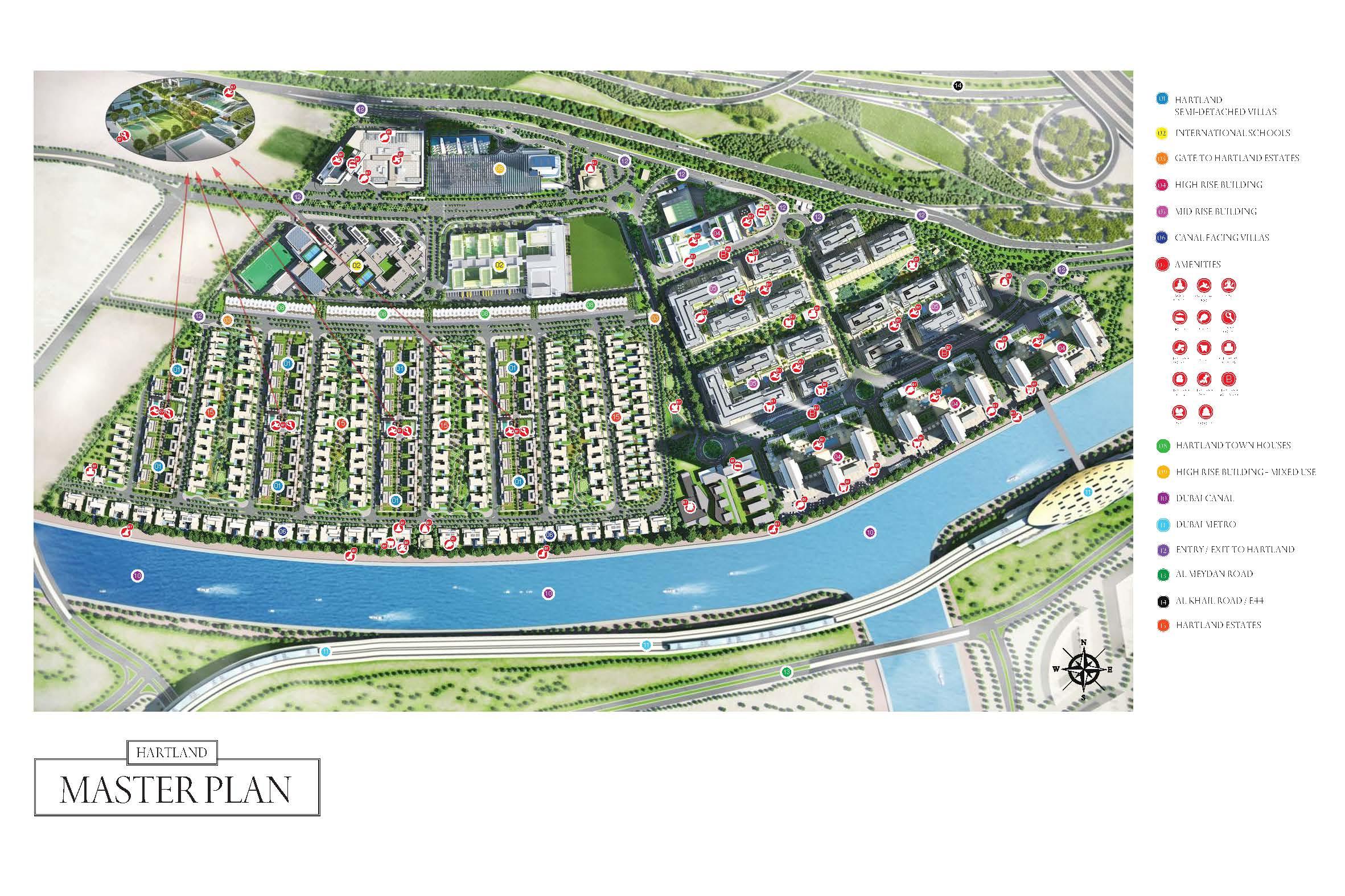 Sobha-Hartland-Estates Master Plan
