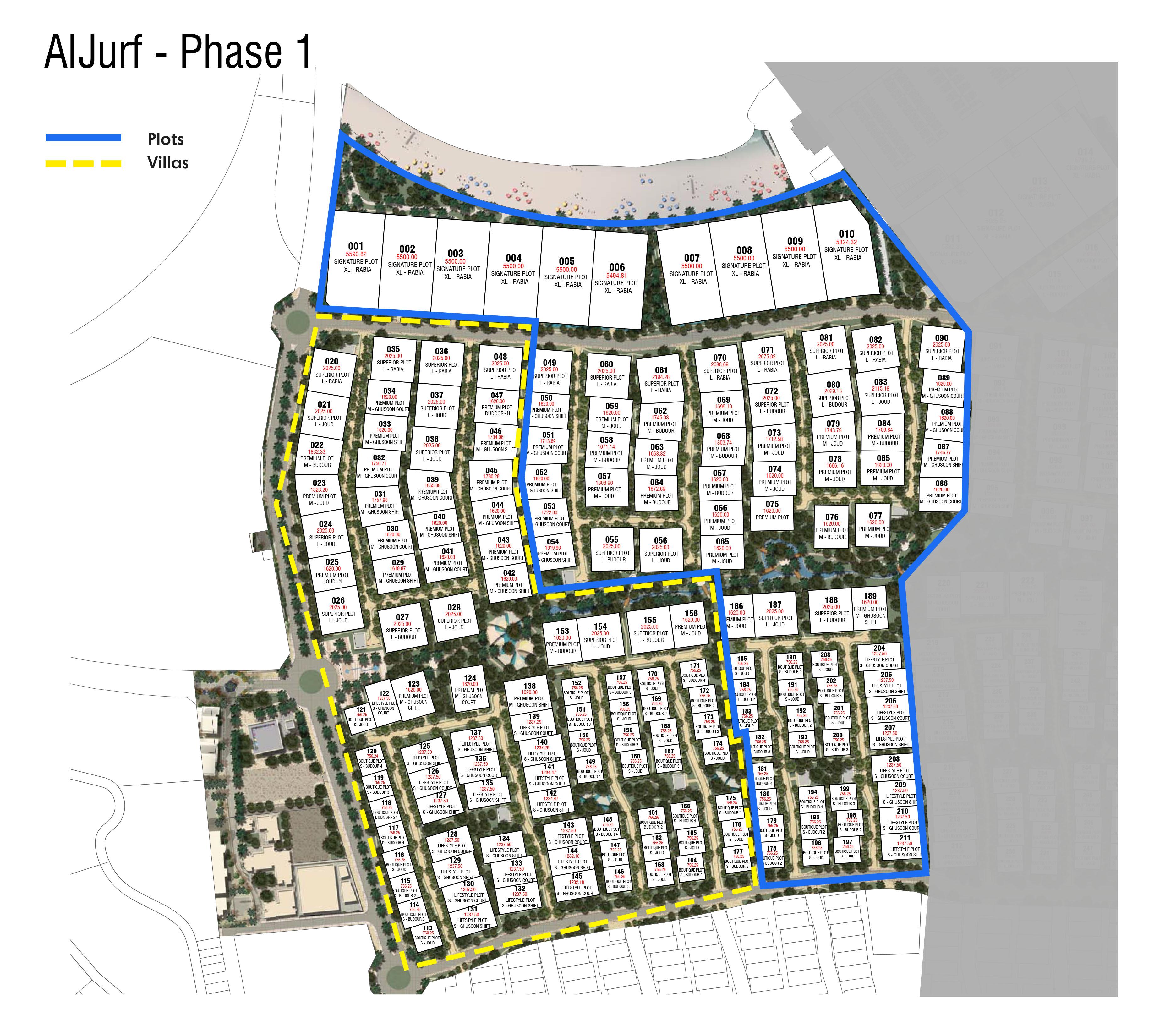 Aljurf-Budoor-Villas Master Plan