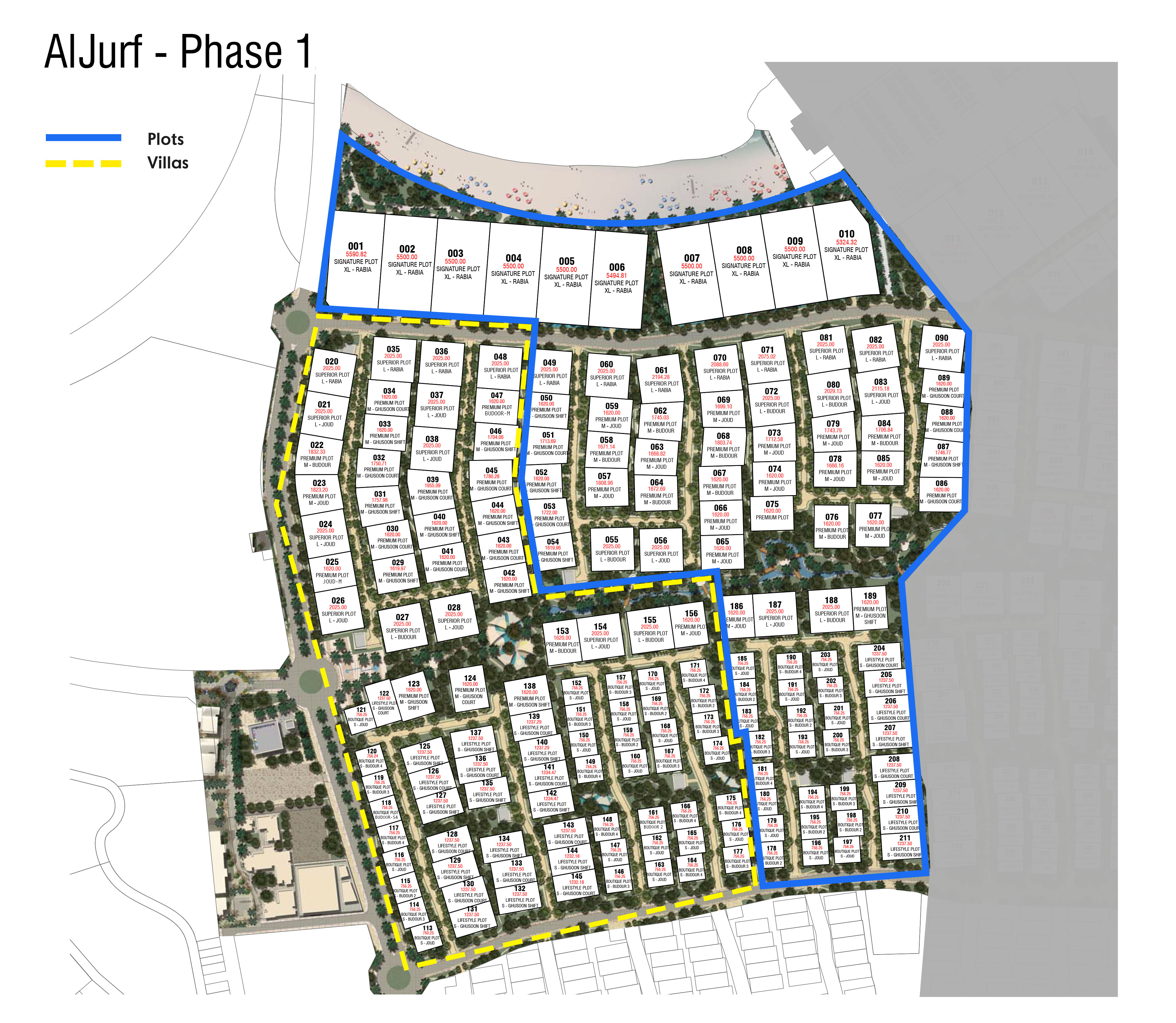 AlJurf-Joud-Villas Master Plan