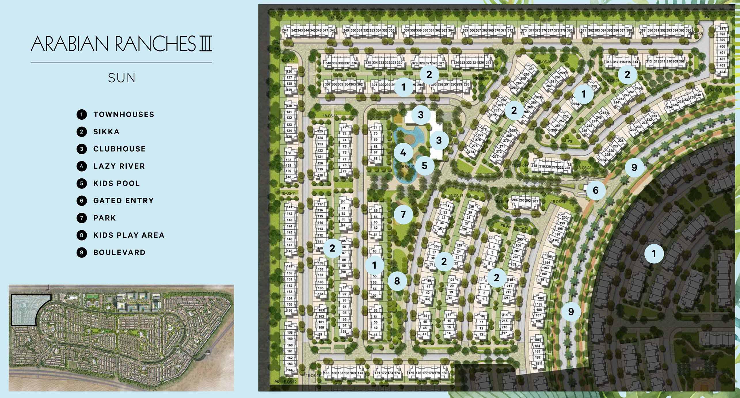 Emaar-Sun-Townhouses-at-Arabian-Ranches-III Master Plan