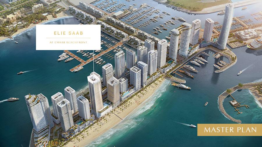 Elie-Saab-Tower-at-Emaar-Beachfront Master Plan