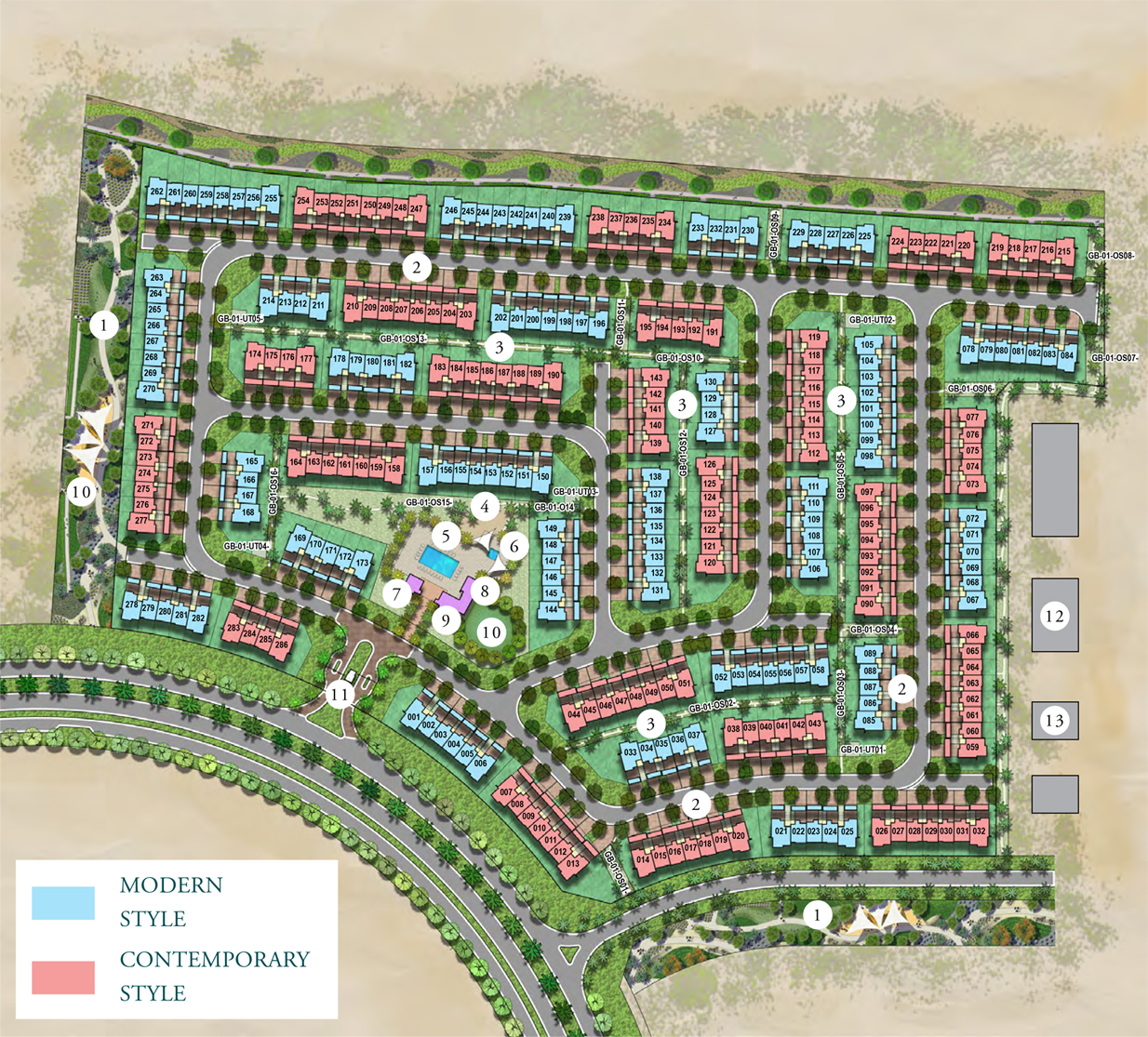 Emaar Greenview Villas -  Master Plan