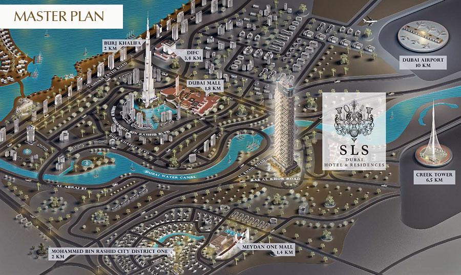 SLS Dubai Residences -  Master Plan