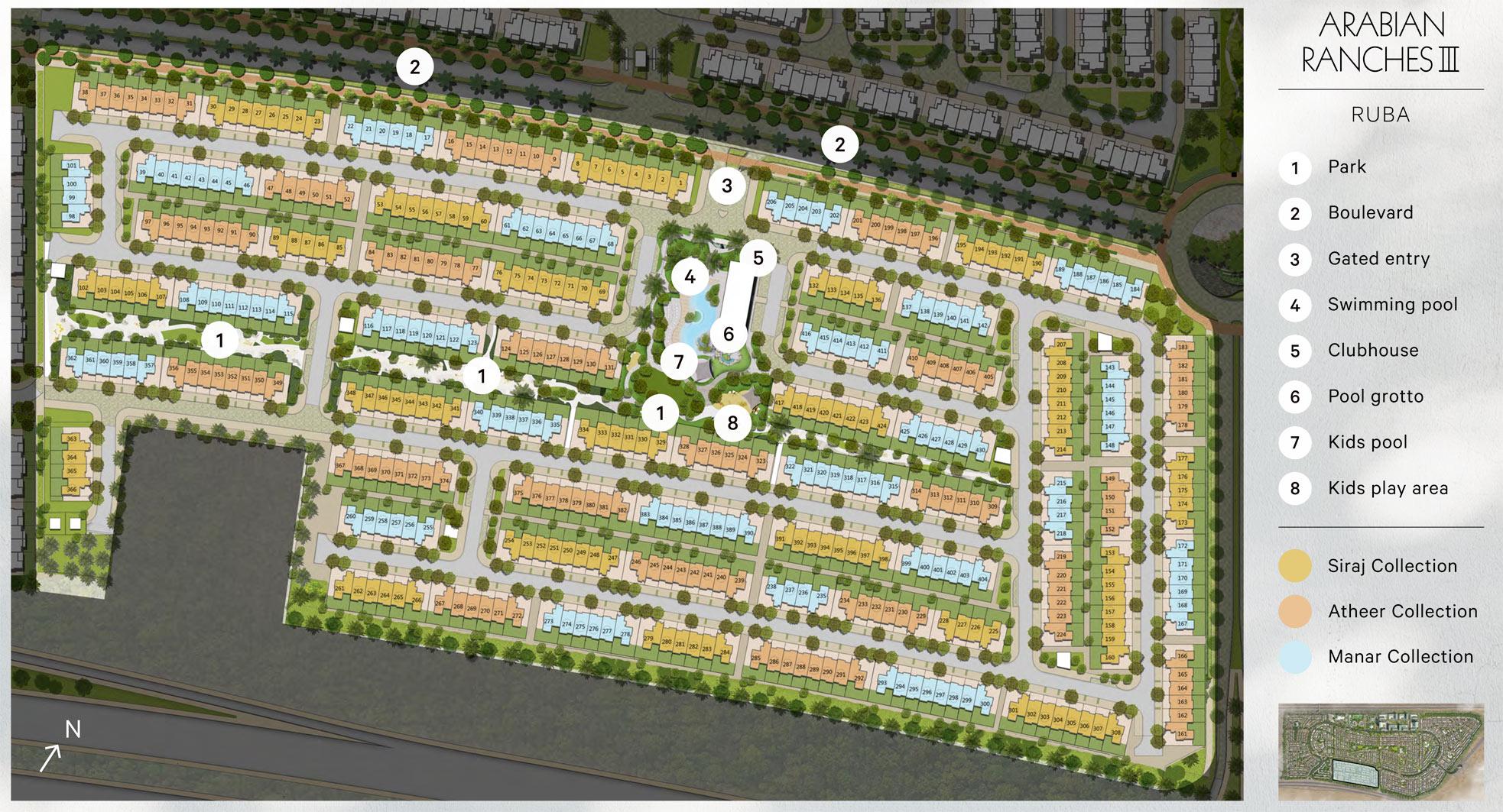 Ruba-at-Arabian-Ranches-3 Master Plan