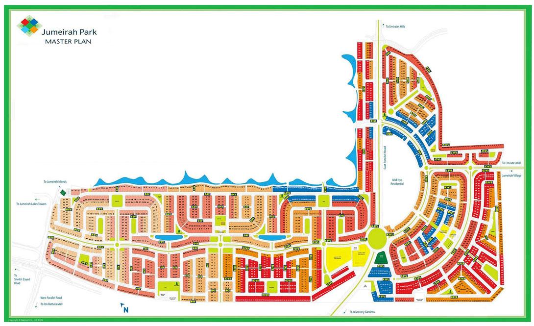 Regional-Jumeirah-Park-Villas Master Plan