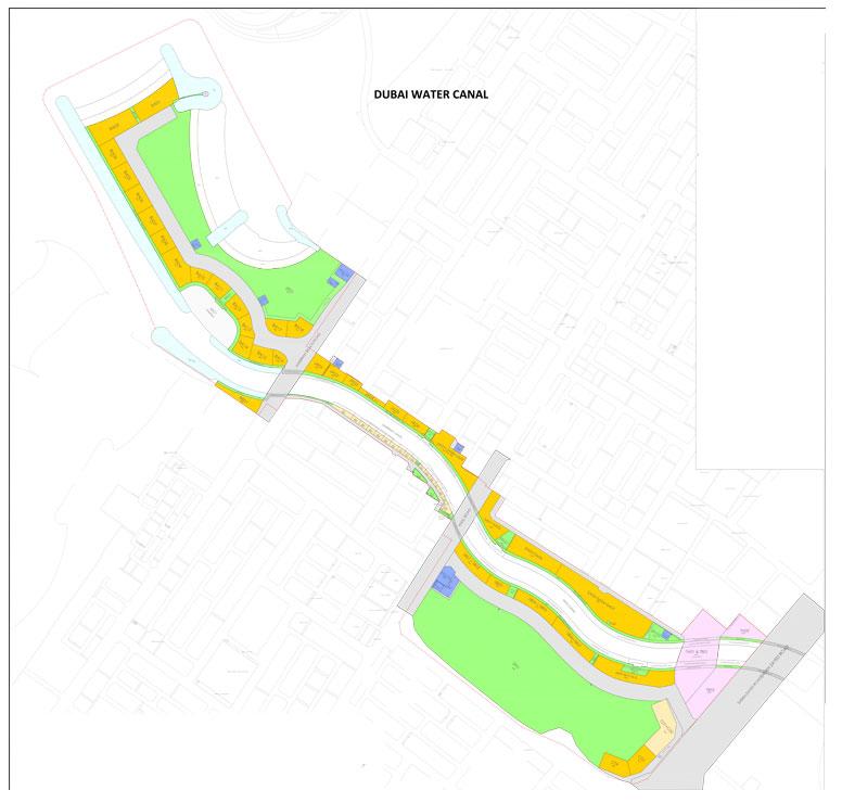 Dubai-Water-Canal-Plots Master Plan