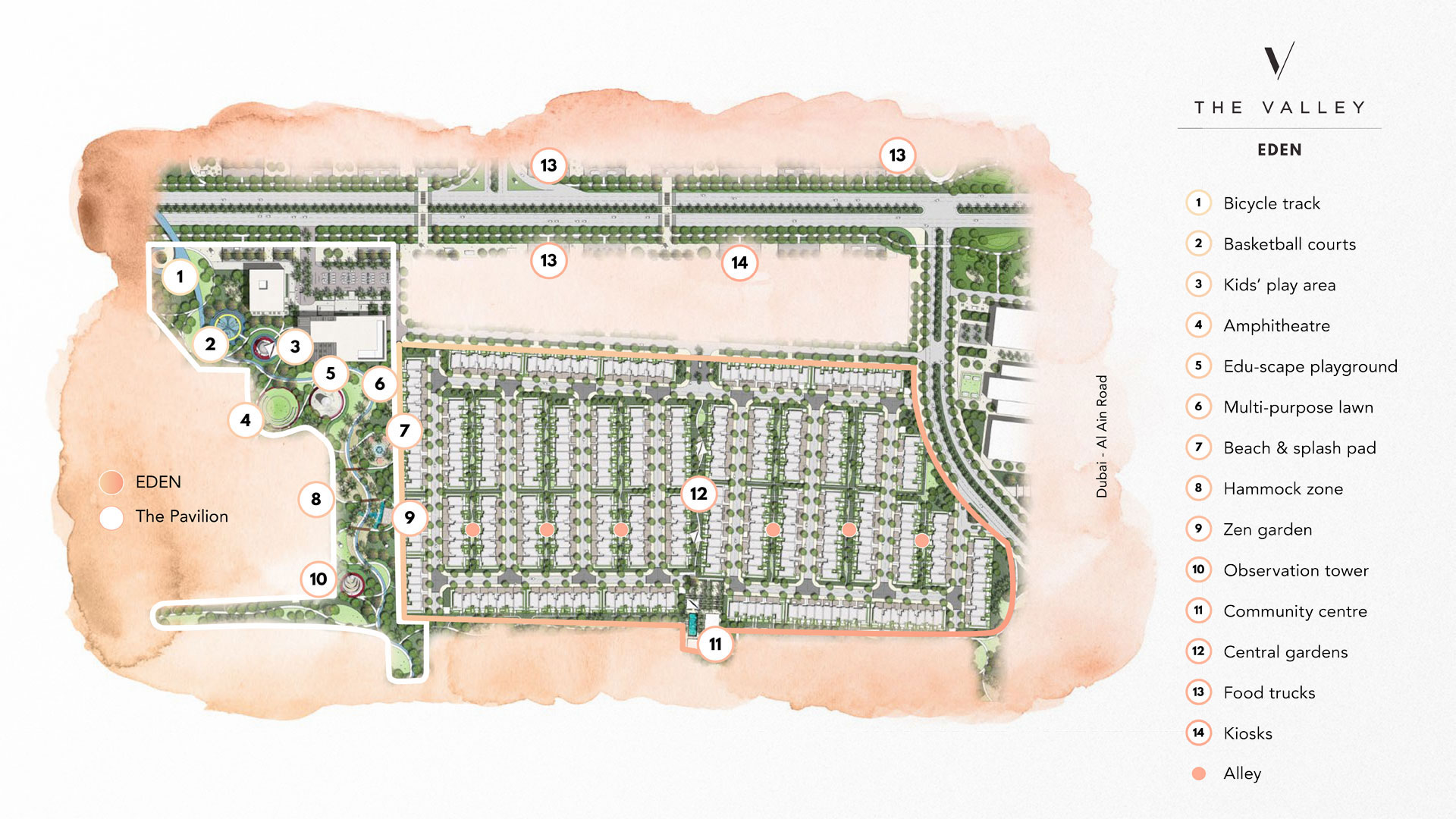 The-Valley-by-Emaar Master Plan