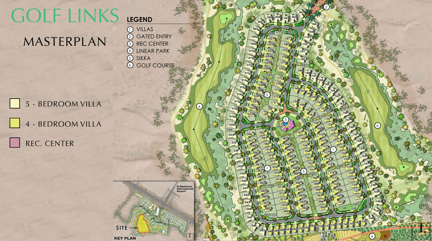 Golf-Links-Villas-at-Emaar-South Master Plan