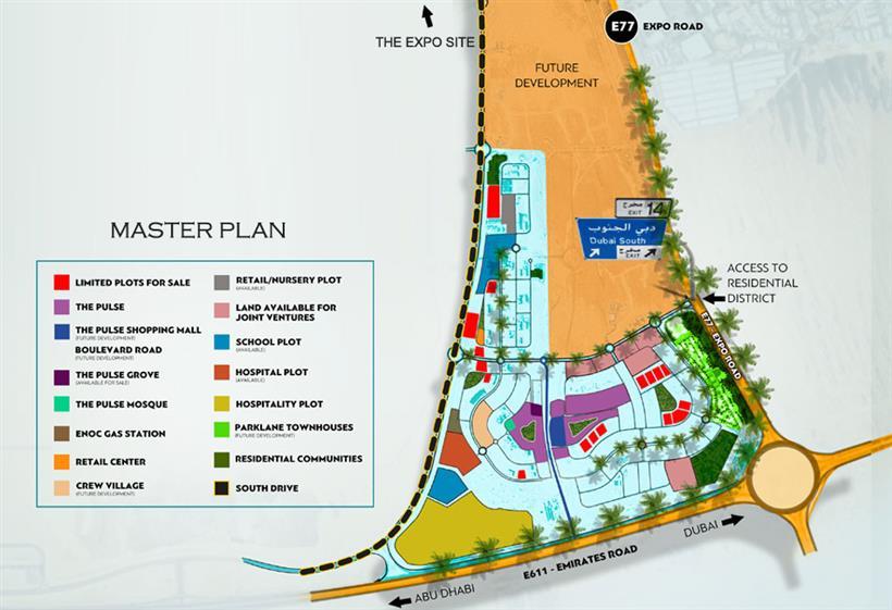 Dubai South Plots -  Master Plan