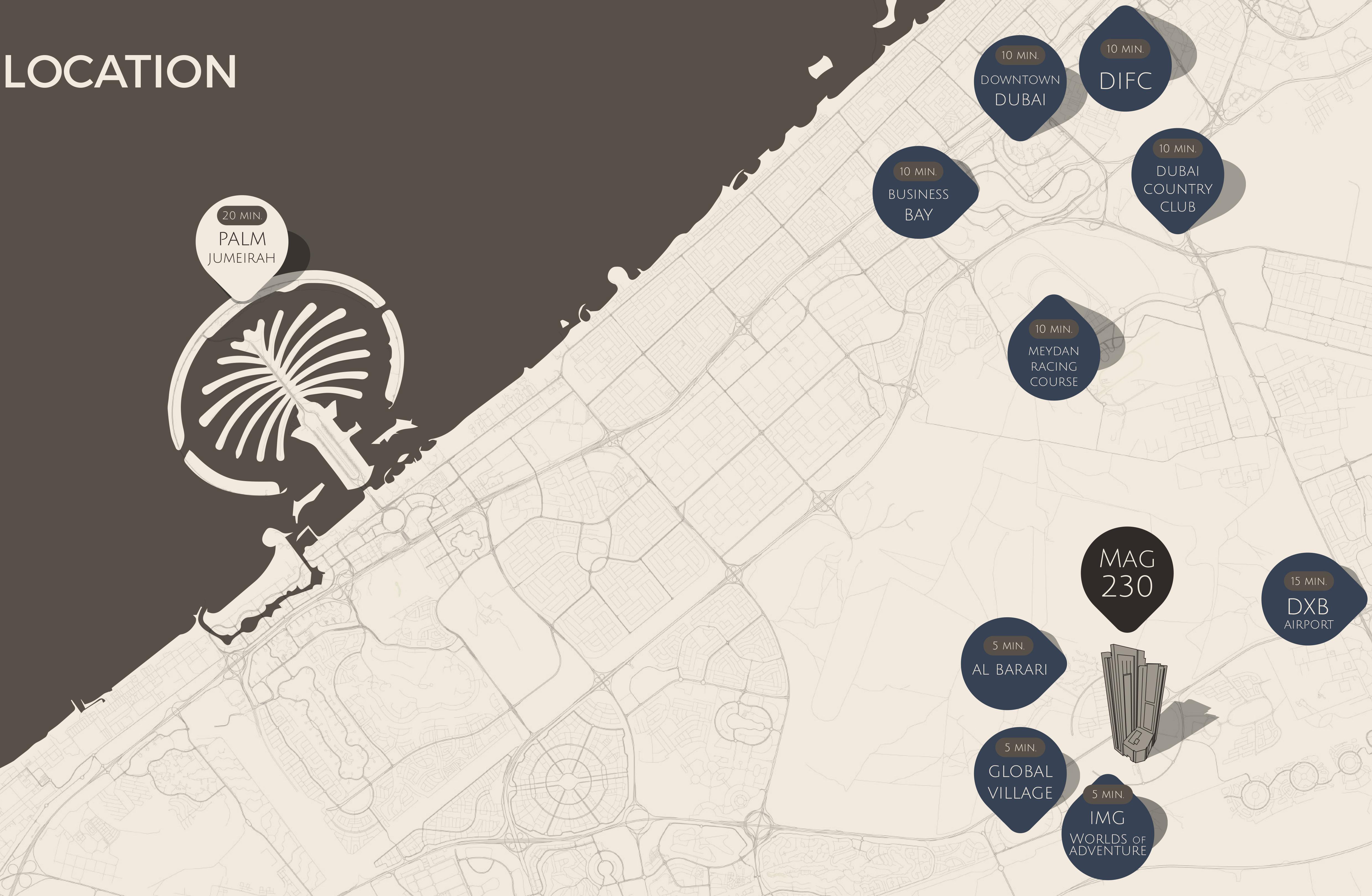 MAG 230 Apartments -  Location Plan