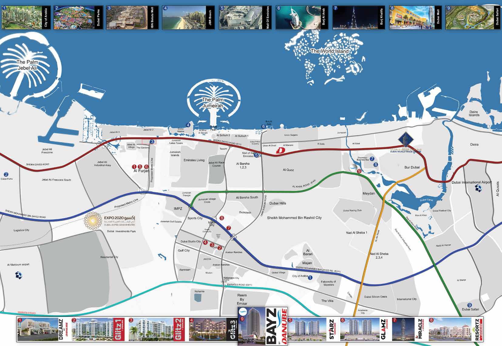 Bayz-Apartments Location Map
