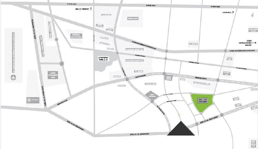 Aurum-Villas Location Map
