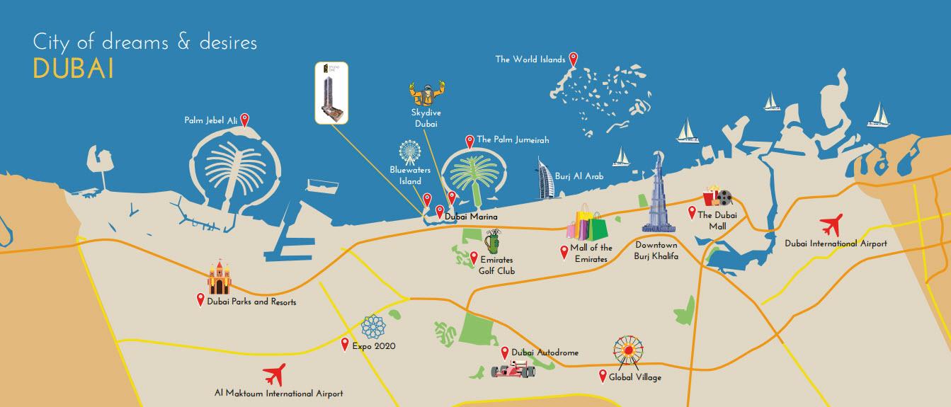 Select studio one apartment dubai marina location map location studio one location plan gumiabroncs Gallery