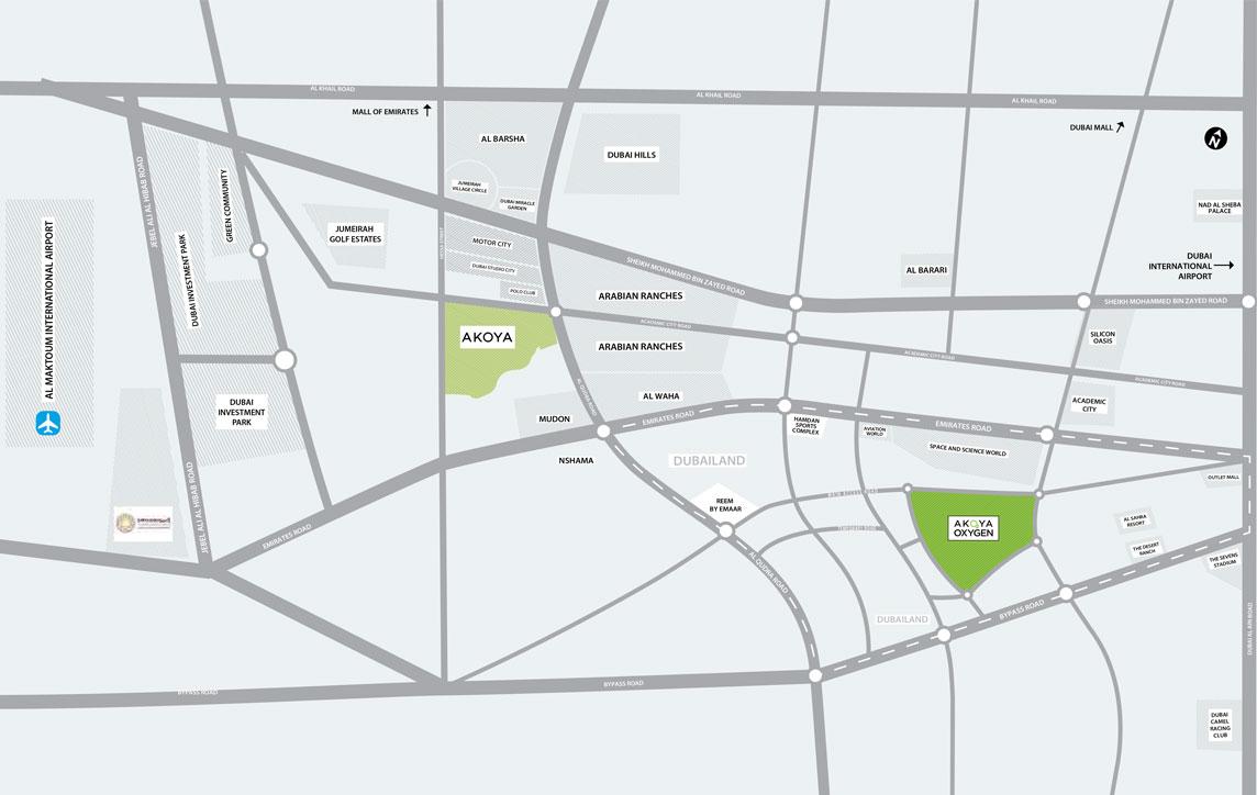 Akoya-Genus-Villas Location Map