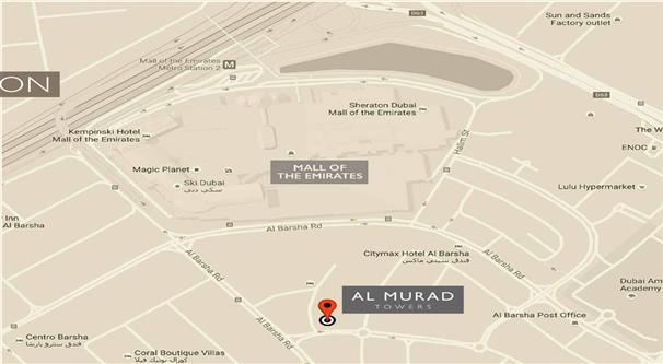 Al Murad Tower -  Location Plan