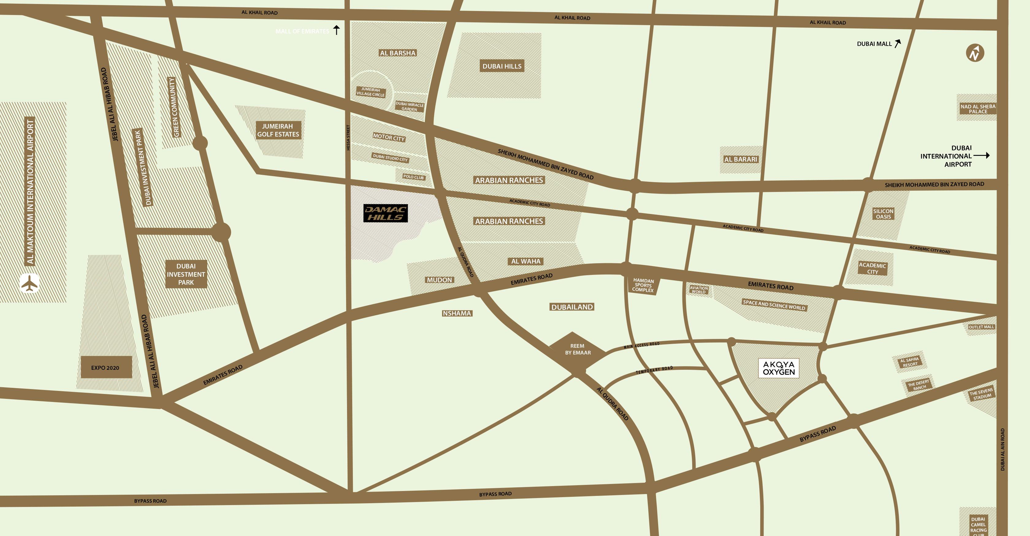 The-Park-Villas Location Map