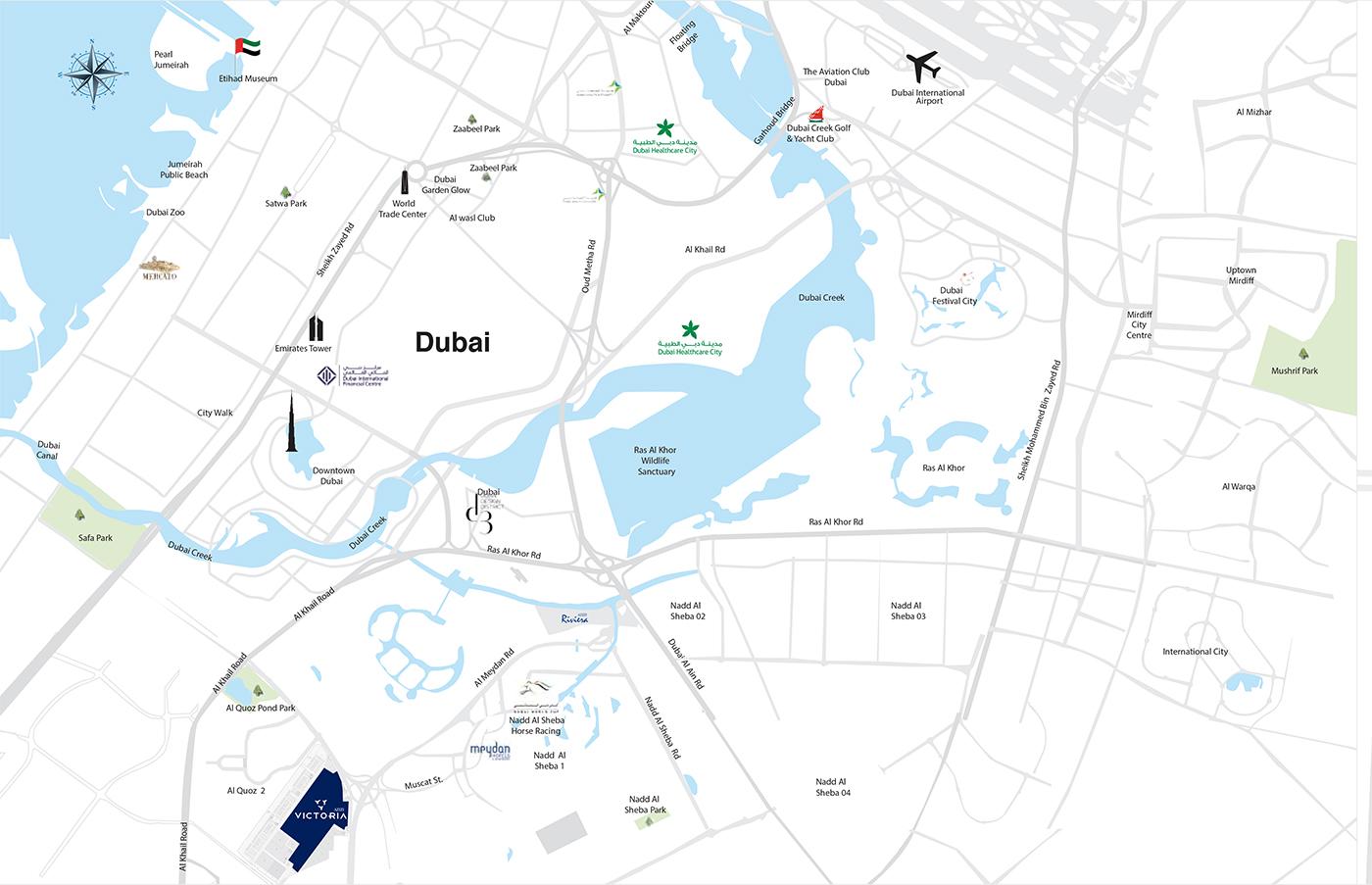 Azizi Victoria Apartments -  Location Plan