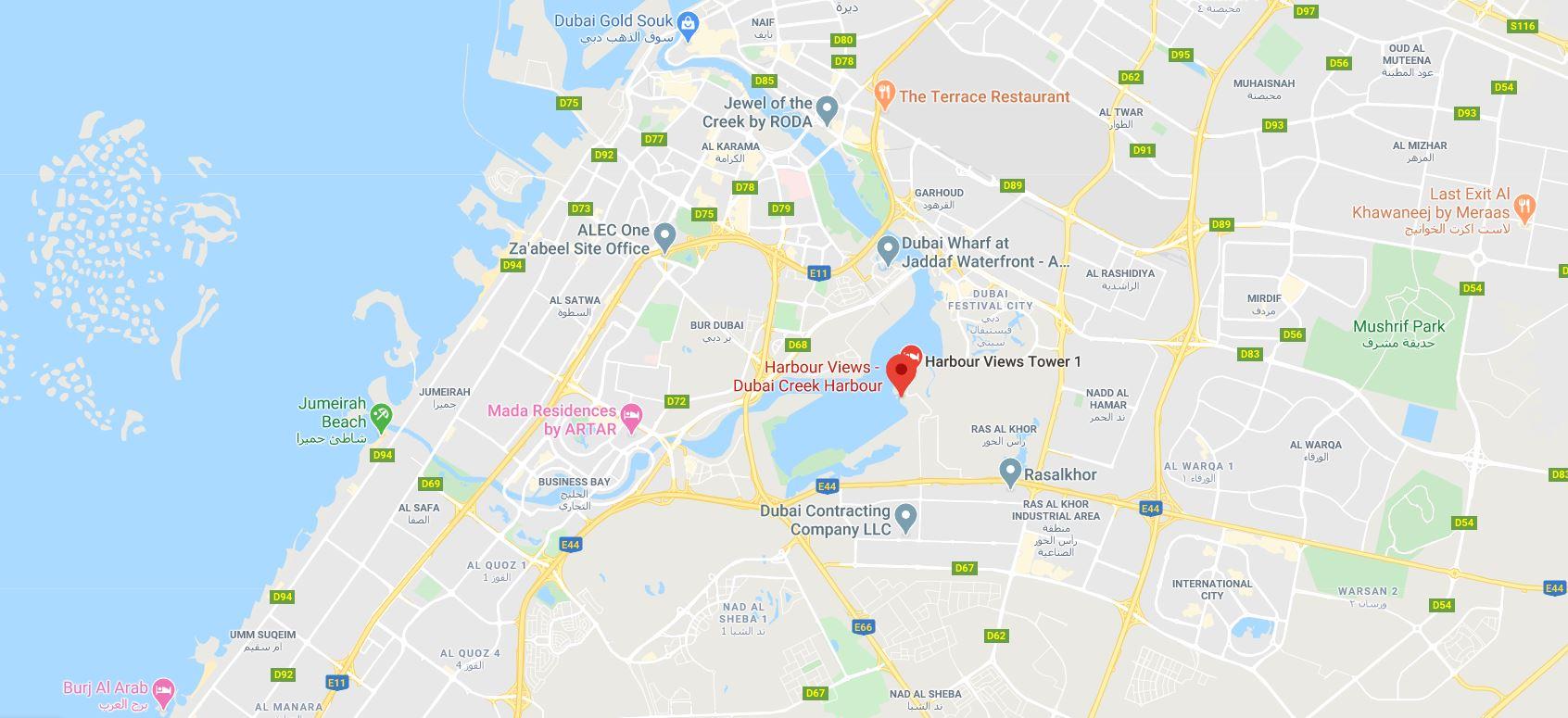 Creek-Harbour-Views Location Map
