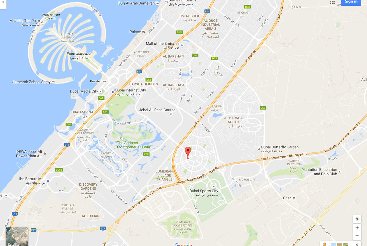Gardenia-Residency Location Map