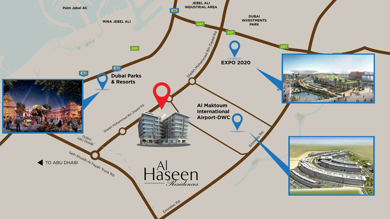 Al-Haseen-Residence Location Map