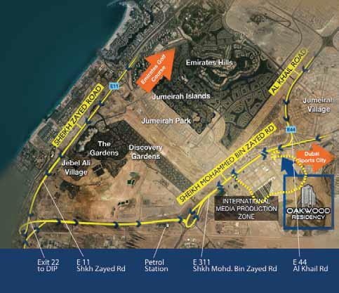 Oakwood-Residency Location Map