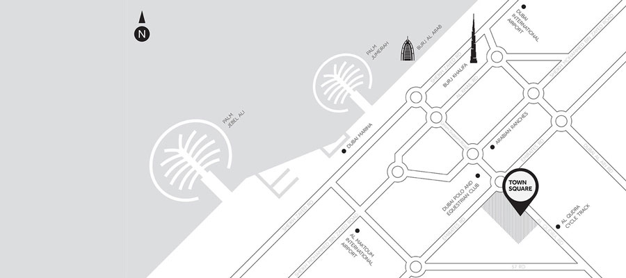 Noor-Townhouses Location Map