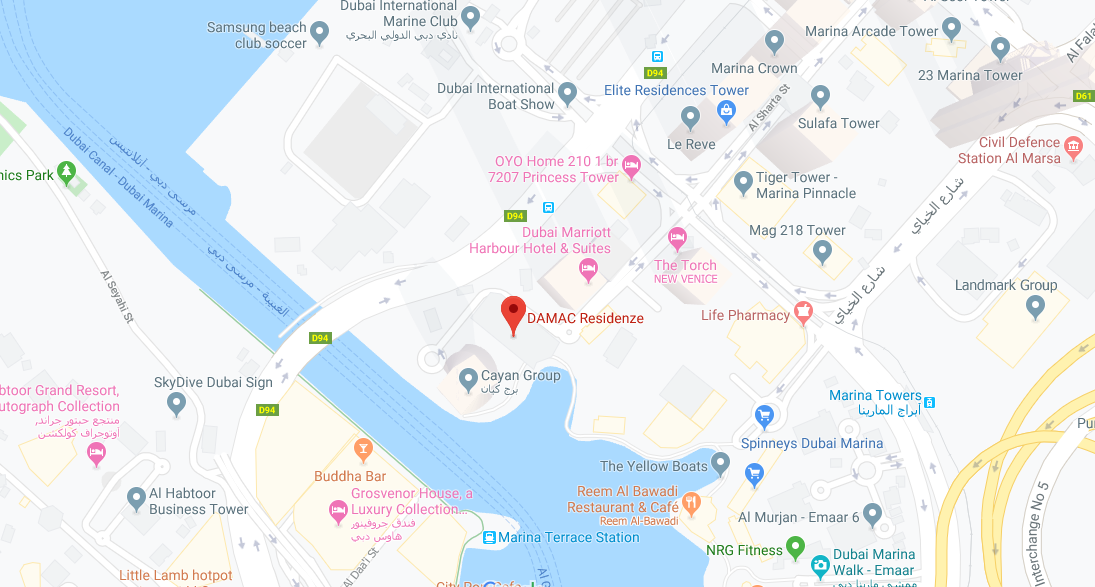 DAMAC Residenze -  Location Plan