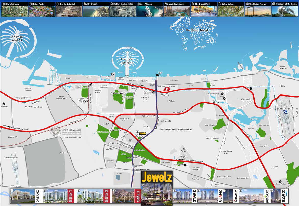 Jewelz-by-Danube Location Map