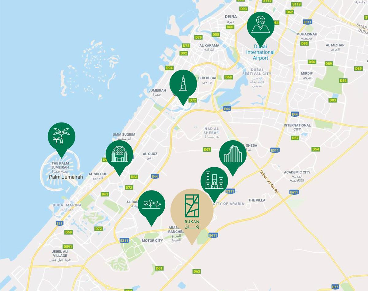 Rukan-Villas Location Map