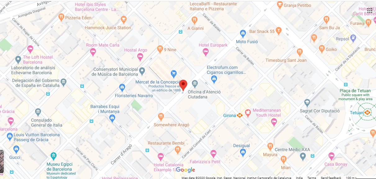 Arago Barcelona -  Location Plan