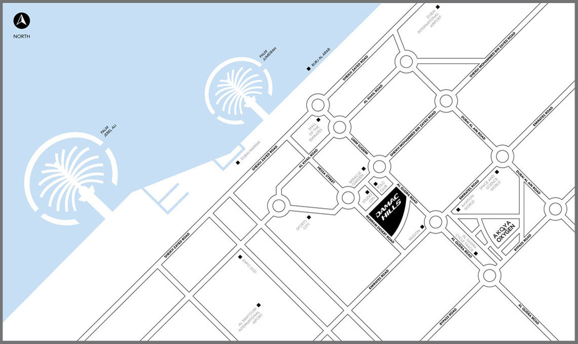 Akoya-Casablanca Location Map