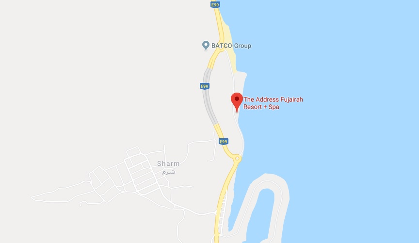 The-Address-Fujairah-Resort-Spa Location Map