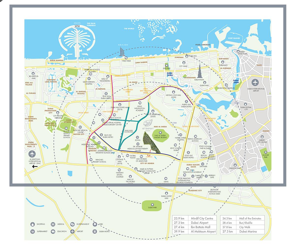 Ashjar Apartments -  Location Plan