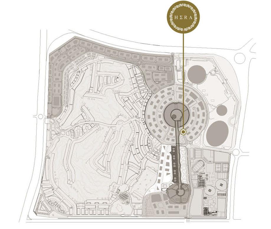 Hera-Tower Location Map