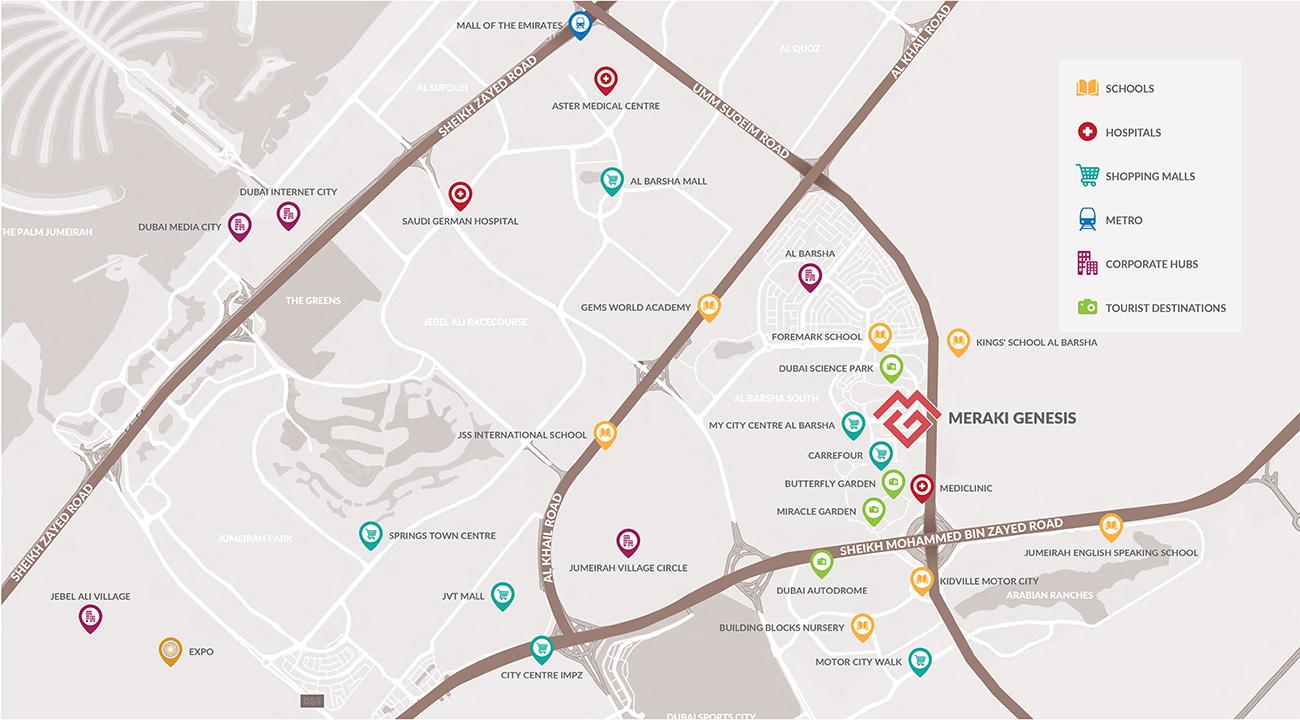 Genesis-Residences Location Map